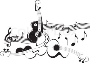 2584955-728015-musical-instruments-guitars-and-violin-black-and-white-abstract-vector-illustration-string-instruments-and-music-notes